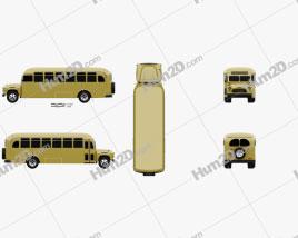Chevrolet 6700 School Bus 1955 clipart