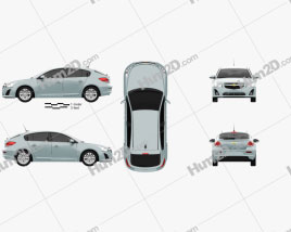 Chevrolet Cruze hatchback 2013 car clipart
