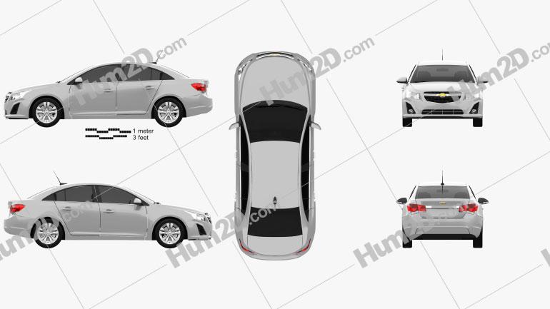 Chevrolet Cruze sedan 2013 car clipart