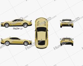 Chevrolet Camaro Bumblebee 2014 car clipart