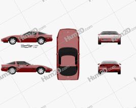 Chevrolet Corvette (C4) coupe 1983 car clipart