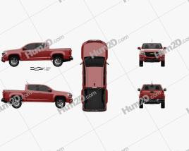 Chevrolet Colorado Double Cab 2014 car clipart