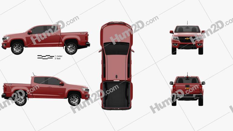 Chevrolet Colorado Double Cab 2014 Clipart Image