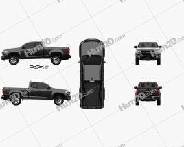 Chevrolet Colorado Extended Cab 2014 car clipart