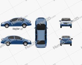 Chevrolet Aveo (T250) sedan 2006 car clipart