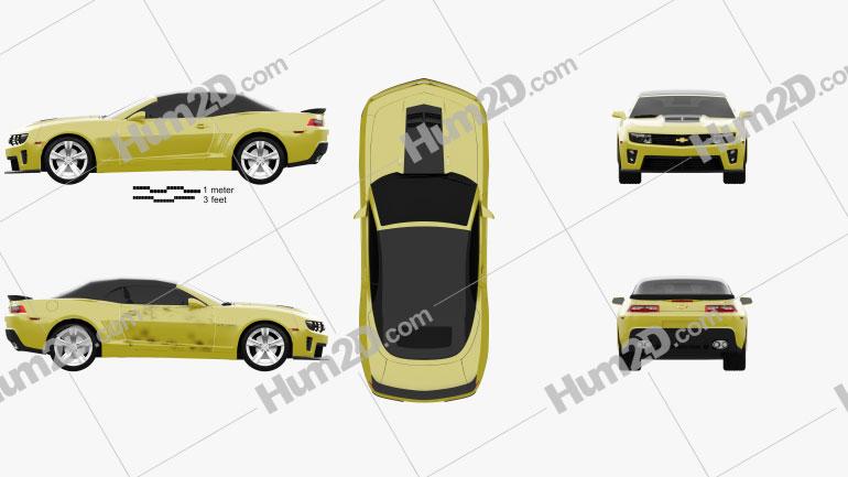 Chevrolet Camaro ZL1 convertible 2014 car clipart