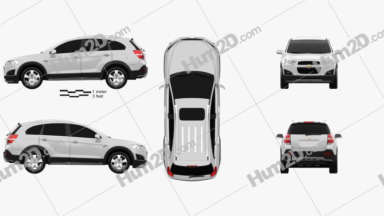 Chevrolet Captiva LTZ 2013 Clipart Image