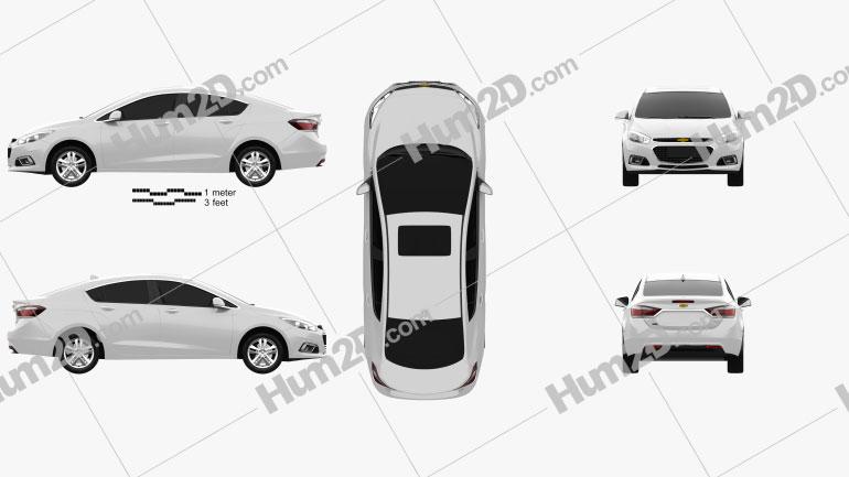 Chevrolet Cruze (CN) 2014 car clipart