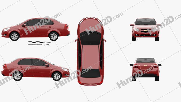 Chevrolet Lova (T250) 2010 Clipart Image