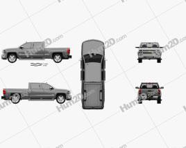Chevrolet Silverado Crew Cab High Country 2014 car clipart
