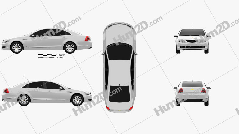 Chevrolet Caprice 2006 Clipart Image