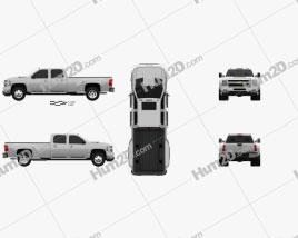 Chevrolet Silverado Crew Cab Dually 2010 Clipart