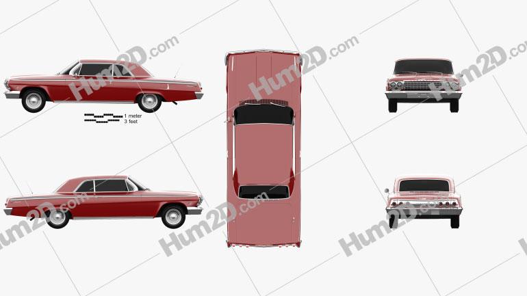 Chevrolet Impala SS 409 1962 car clipart