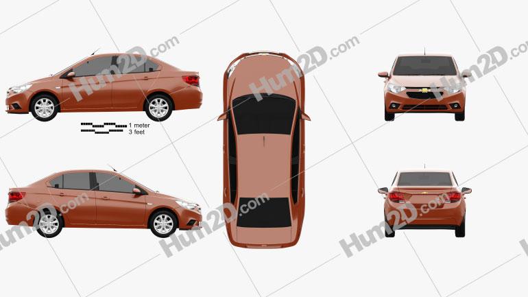 Chevrolet Sail 3 2015 Clipart Image