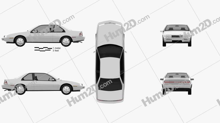 Chevrolet Beretta GT 1988 car clipart