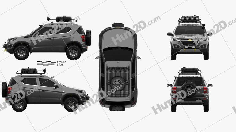 Chevrolet NIVA 2014 Clipart Image