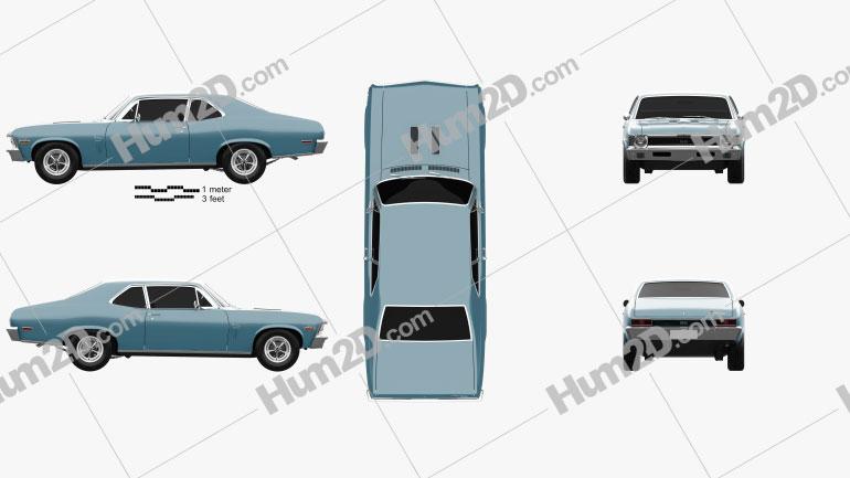 Chevrolet Nova SS 396 1970 Clipart Image