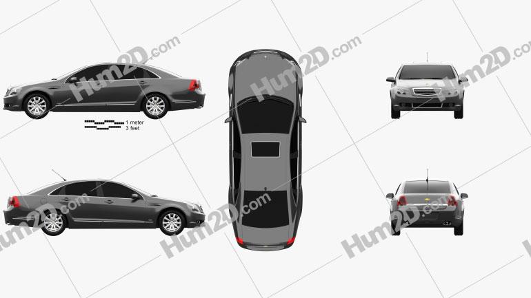 Chevrolet Caprice Royale 2014 Clipart Image