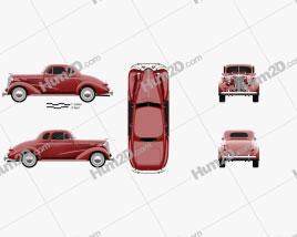 Chevrolet Master DeLuxe (GA) 1937 car clipart