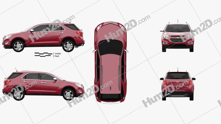 Chevrolet Equinox 2016 Clipart Image