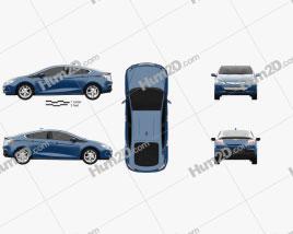 Chevrolet Volt 2015 car clipart