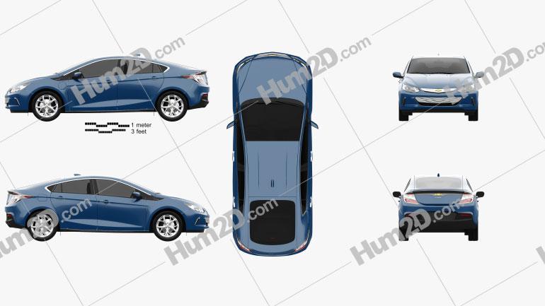 Chevrolet Volt 2015 Clipart Image