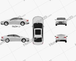 Chevrolet Malibu 2016 car clipart