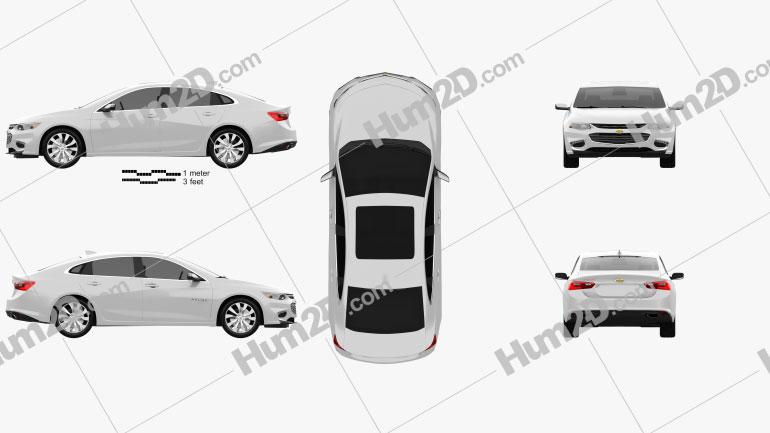 Chevrolet Malibu 2016 Clipart Image