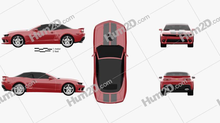 Chevrolet Camaro SS convertible 2014 car clipart