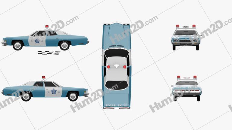 Chevrolet Impala Police 1972 car clipart