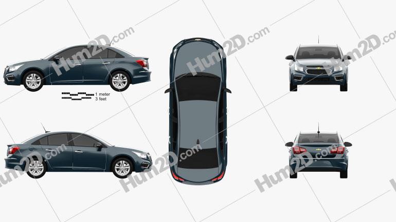 Chevrolet Cruze sedan 2015 car clipart