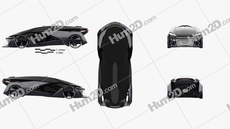 Chevrolet FNR 2015 car clipart