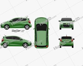 Chevrolet Spark 2016 car clipart