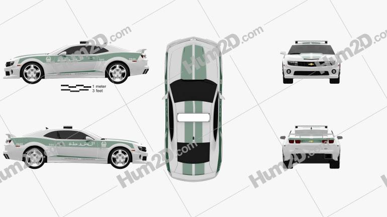 Chevrolet Camaro Police Dubai 2013 car clipart
