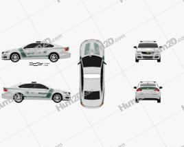 Chevrolet Impala Police Dubai 2014 car clipart