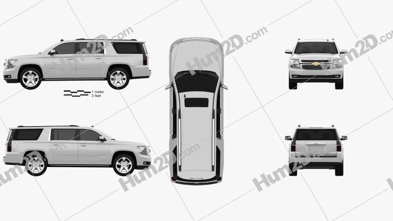Chevrolet Suburban LTZ 2014 Clipart Image