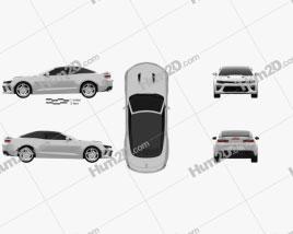 Chevrolet Camaro SS convertible 2016 car clipart