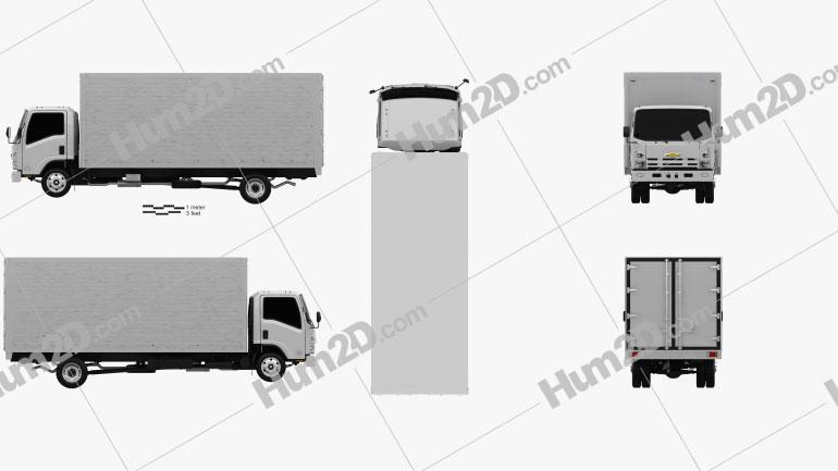Chevrolet NQR 75L Box Truck 2011 clipart