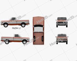Chevrolet C10 Cheyenne Pick-up 1971 car clipart