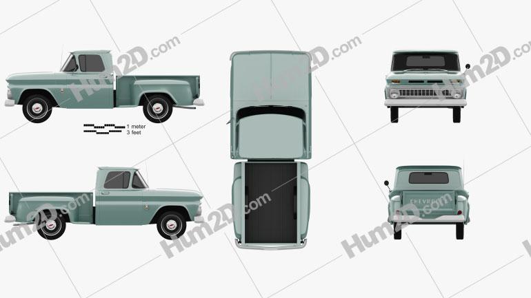 Chevrolet C10 (K10) 1963 Imagem Clipart