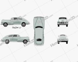 Chevrolet Fleetline 2-door Aero Sedan 1948 car clipart