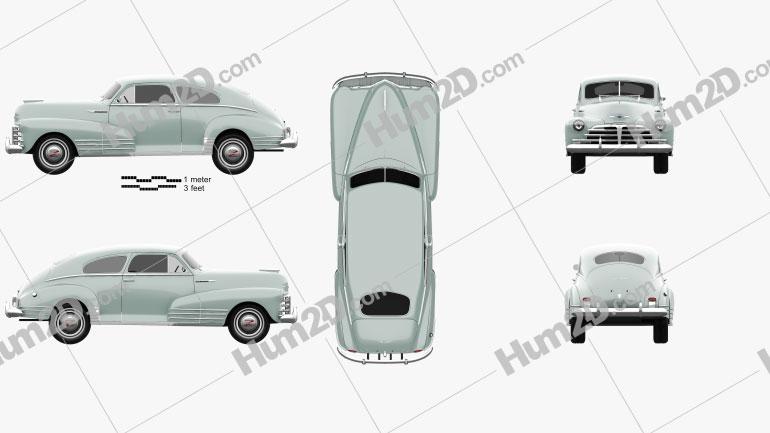 Chevrolet Fleetline 2-door Aero Sedan 1948 Clipart Image