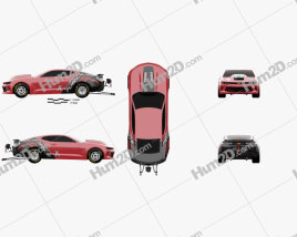 Chevrolet Camaro COPO 2016 car clipart