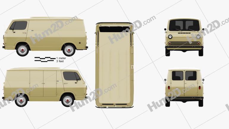 Chevrolet G10 Chevy Van 1964 clipart