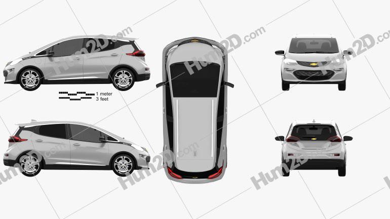 Chevrolet Bolt EV 2017 Clipart Image