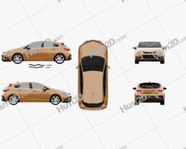 Chevrolet Cruze Hatchback RS 2017 car clipart