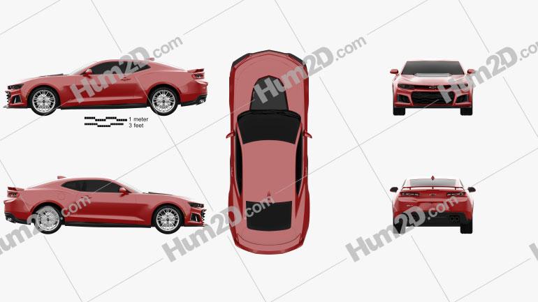 Chevrolet Camaro ZL1 2016 car clipart