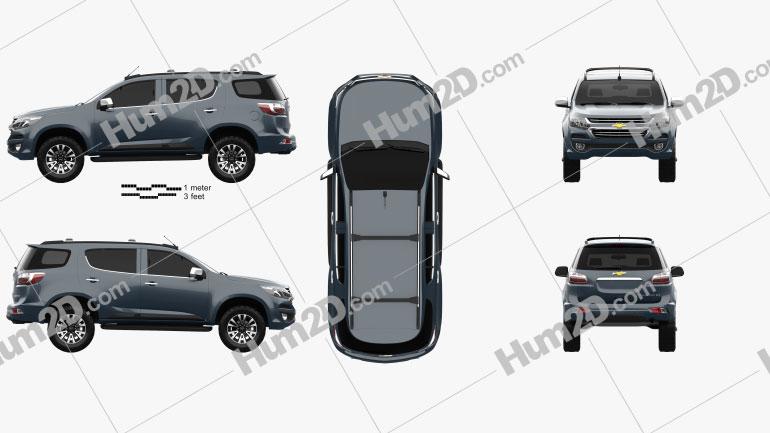 Chevrolet TrailBlazer 2016 car clipart
