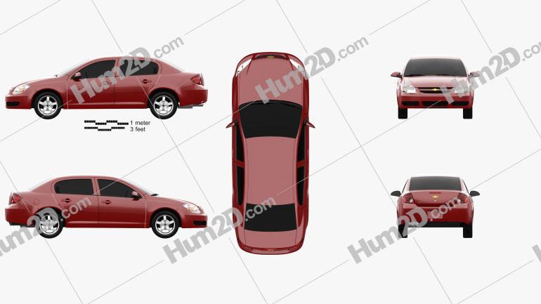 Chevrolet Cobalt LT 2004 Clipart Image