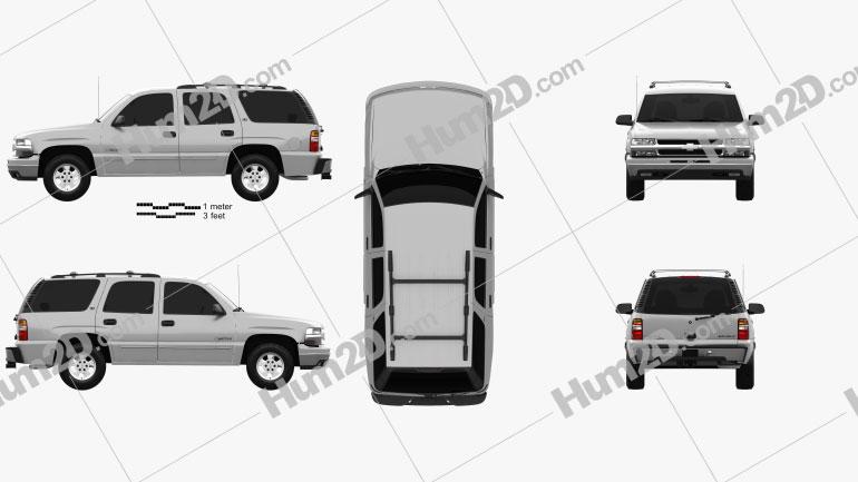 Chevrolet Tahoe LS 2002 car clipart